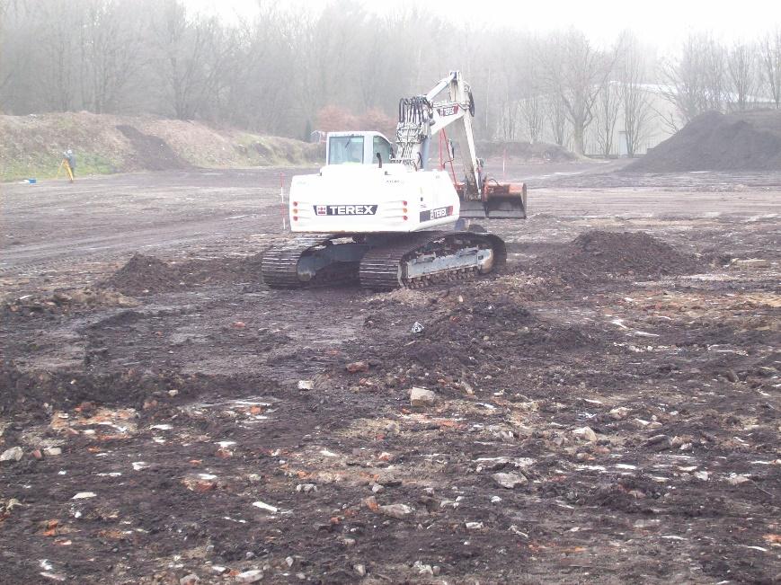 Flächenbefestigung Kompostierung und Speicherbecken